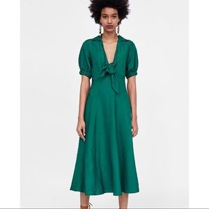 ZARA Dress With Front Tie